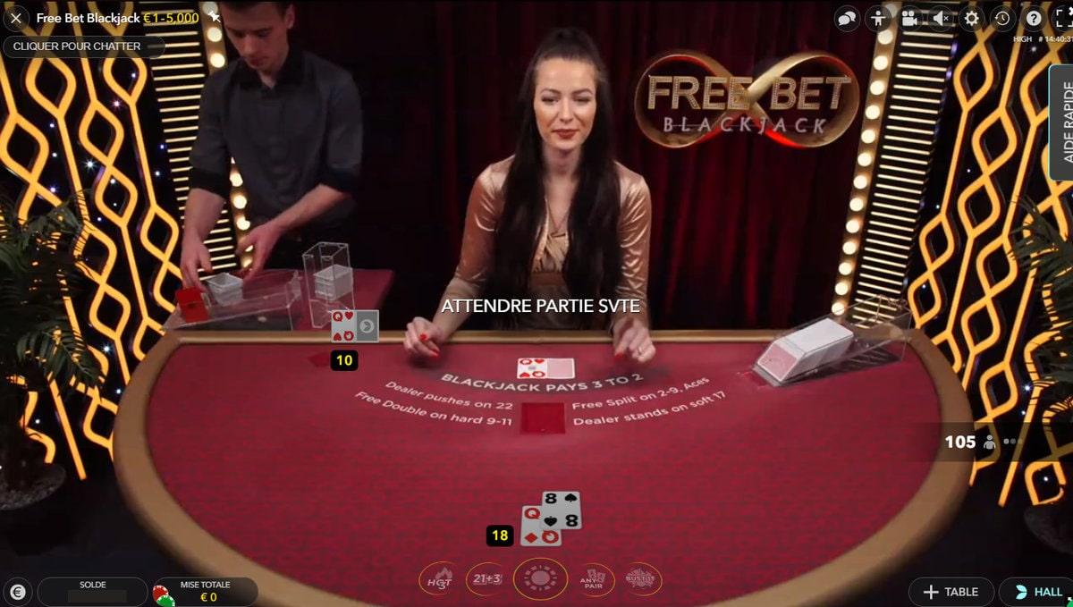 Studio Free Bet Blackjack