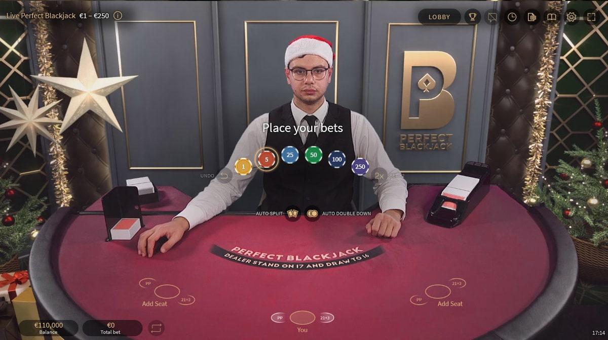 Table Perfect Blackjack de Netent Live