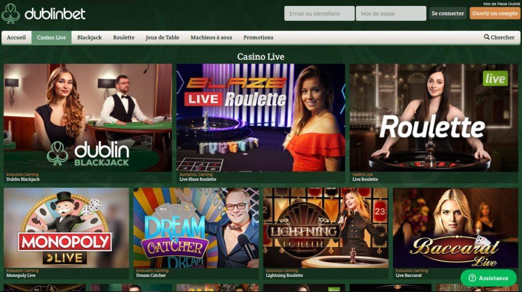 Revue du Casino Dublinbet