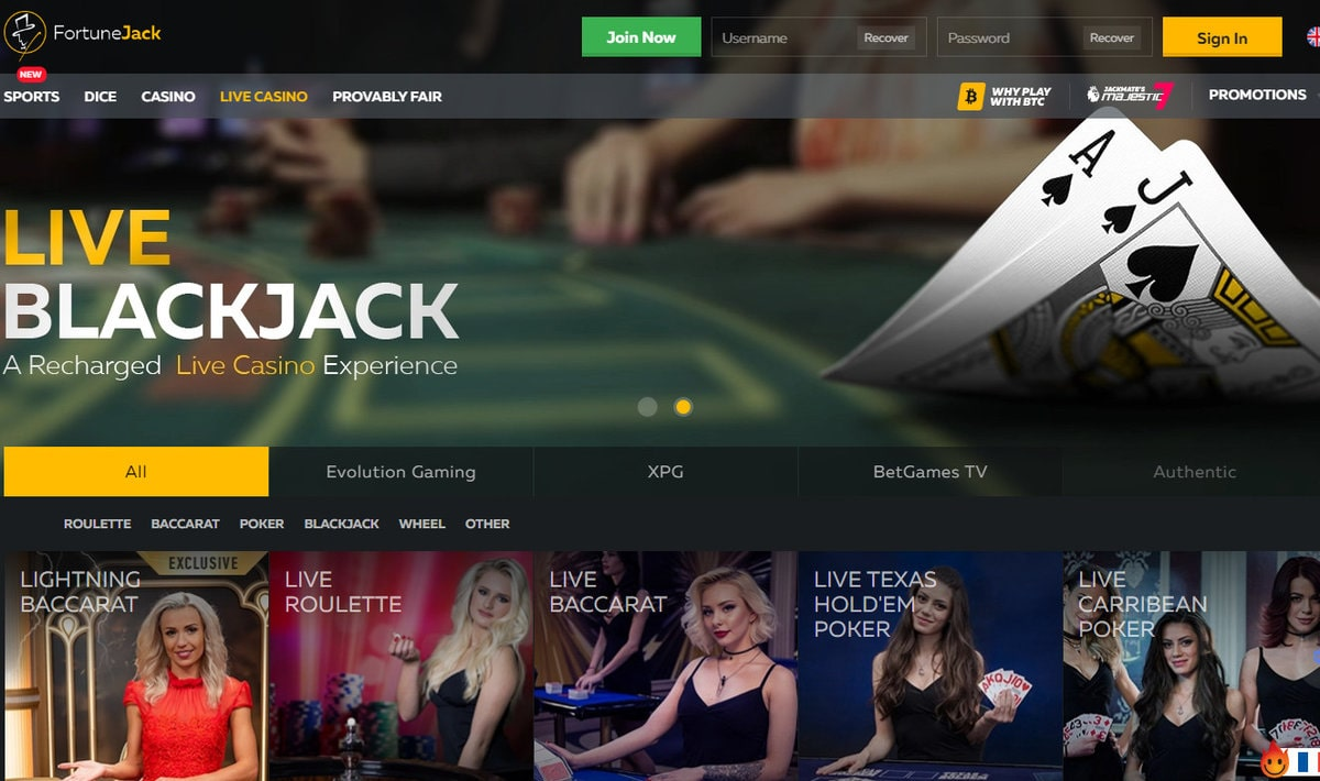 Casino bitcoin FortuneJack