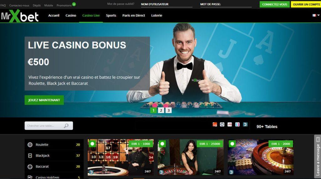 revue du casino en ligne MrXbet