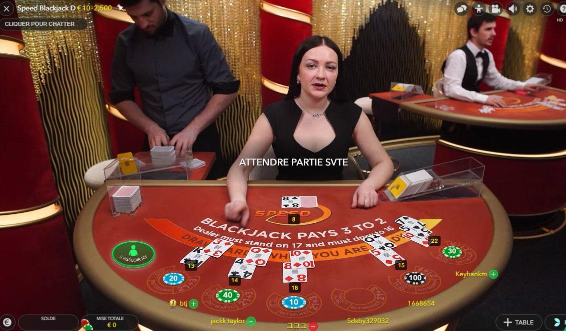 Speed Blackjack online