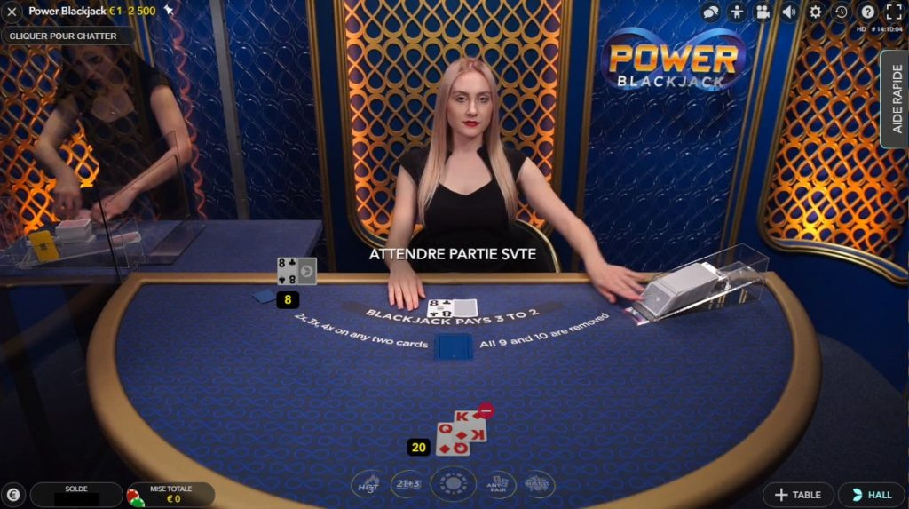 Croupiers en direct du Power Blackjack