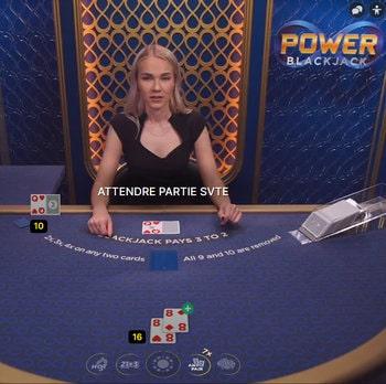 Power Blackjack est une des 10 variantes de blackjack