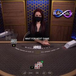 Table de blackjack avec croupier en live préféré de Black-jack.blog