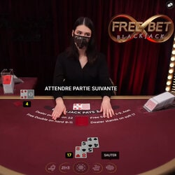 FreeBet Black Jack sur Cresus casino